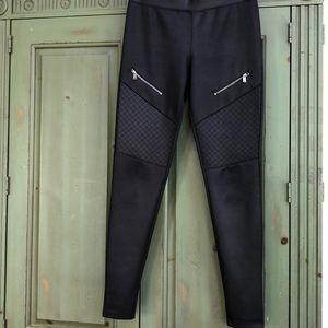 Black moto style leggings